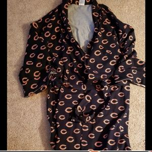 Chicago Bears Belted Bathrobe Size 5X